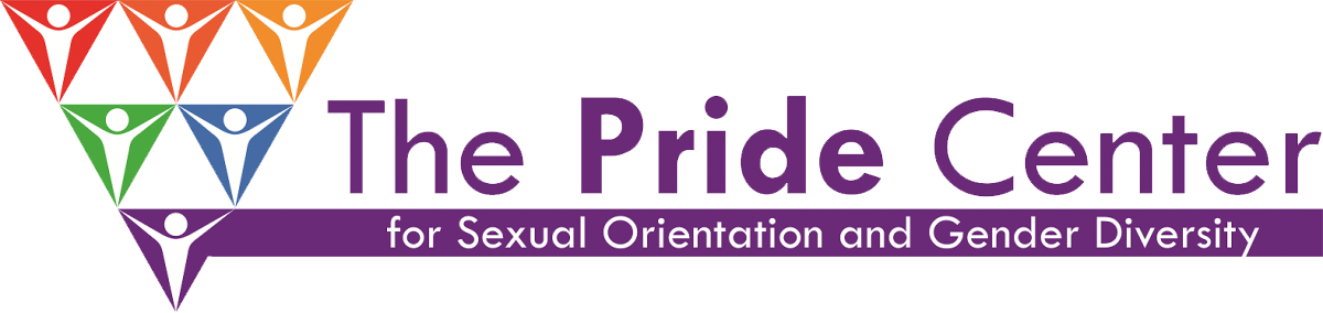 Pride Center logo featuring text that reads The Pride Center for Sexual Orientation and Gender Diversity