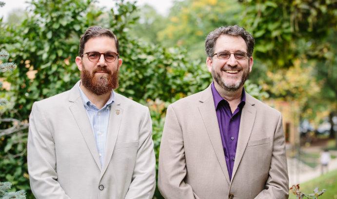 Walead Mosaad and Rabbi Steven Nathan