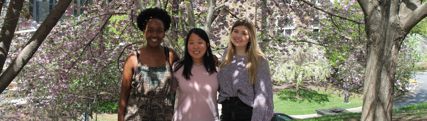 2018-2019 CGE Students Nia, Lois, and Brooke