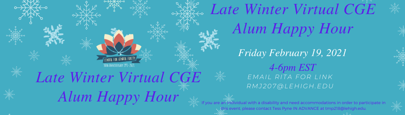 Upcoming Event: Late Winter Alumni Virtual Happy Hour February 19th at 4pm