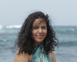 Photo of Amanda Castillo on the beach